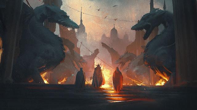 City Dragons Fantasy desktop wallpaper+ Wallpapers Download