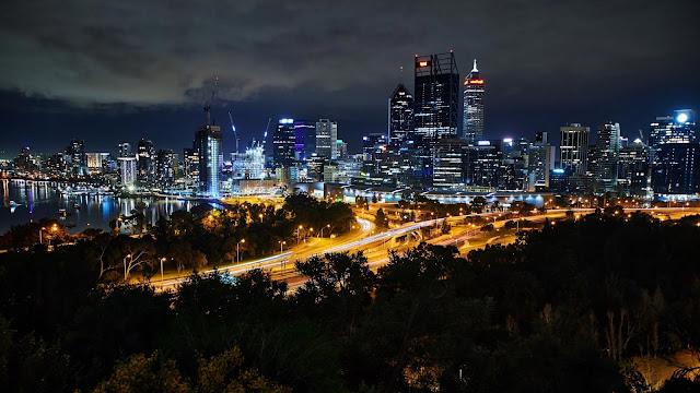 Wallpaper Metropolis, Twilight, City Landscape+ Wallpapers Download
